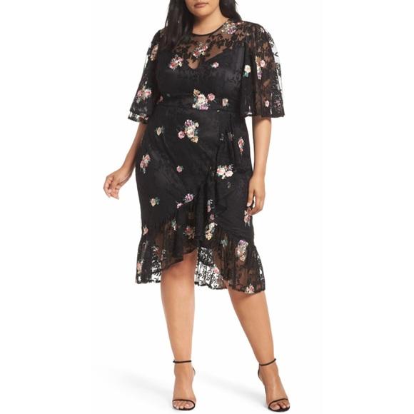 Cooper St Dresses & Skirts - Cooper St Myrtle Floral Lace Dress (Plus Size)